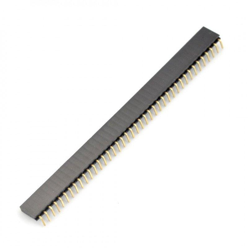 Vnitřní lišta 1x40, hranatá, rozteč 2,54 mm