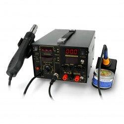 Pájecí stanice 3v1 hotair tip + napájecí zdroj 30V / 5A WEP 853D5A