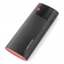 Mobilní baterie PowerBank Esperanza EMP115KC 13800mAh - černá a vínová