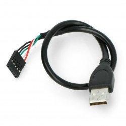 Kabel USB A se zásuvkou 1x5 - 0,3 m