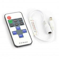 Ovladač pro LED pásky a pásky s dálkovým ovládáním RF - Mini - 11 kláves