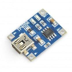 Nabíječka Li-Pol TP4056, 1 článek, 3,7 V, miniUSB
