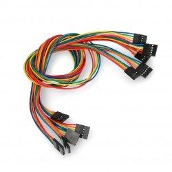 5kolíkový kabel žena-žena - 40cm - 5ks