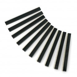 Goldpin proužek 2x40 samice rozteč 2,54 mm - 10ks.