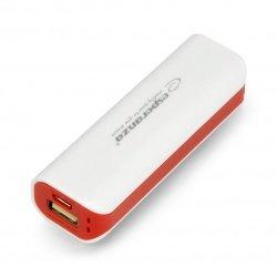 Mobilní baterie PowerBank Esperanza Joule EMP103WR 2200mAh - bílá a červená