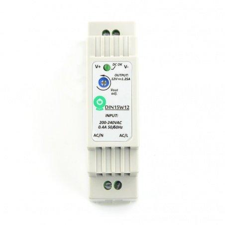 Napájecí zdroj DIN15W12 pro lištu DIN - 12V / 1,25A / 15W