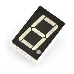 8segmentový displej x1 - 14 mm žlutá - anoda s koeficientem