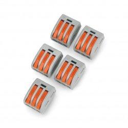 Kostka elektryczna 3pin 32A/400V - pomarańczowa