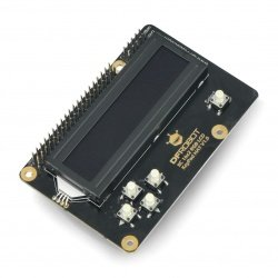 LCD displej 16x2 RGB I2C KeyPad - překrytí pro Raspberry Pi 3B