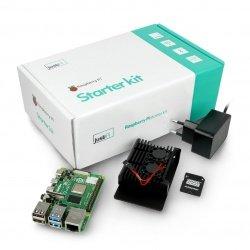 Sada justPi s Raspberry Pi 4B WiFi 4 GB RAM + 32 GB microSD + příslušenství - pouzdro se dvěma ventilátory