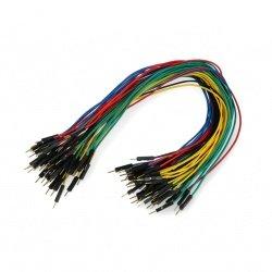 Propojovací kabely samec-samec 30cm barevné - 50ks