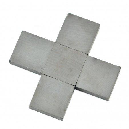 Deskový feritový magnet - 20x20x5mm - 5ks
