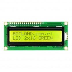 LCD displej 2x16 znaků zelený