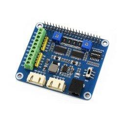 Raspberry Pi Hat - řadiče motorů a serv