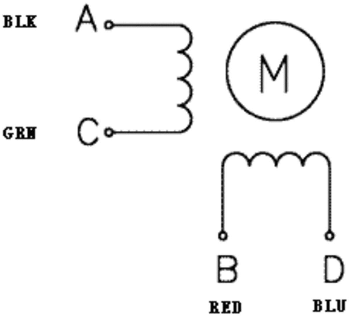 Připojení krokového motoru