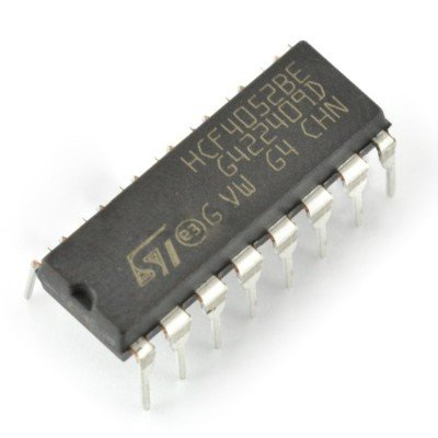 Analogový multiplexer / demultiplexor 4052 - THT