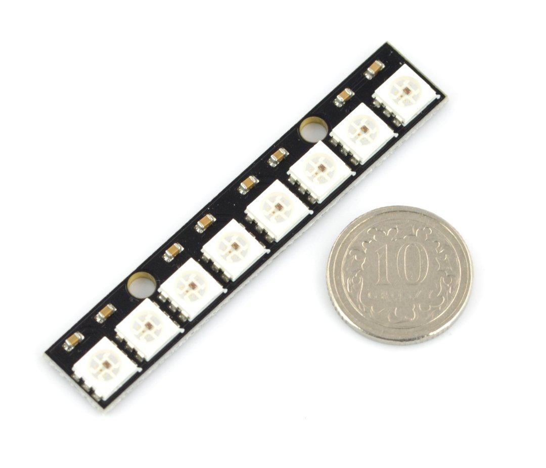 RGB LED pásek WS2812 5050 x 8 LED - 53 mm