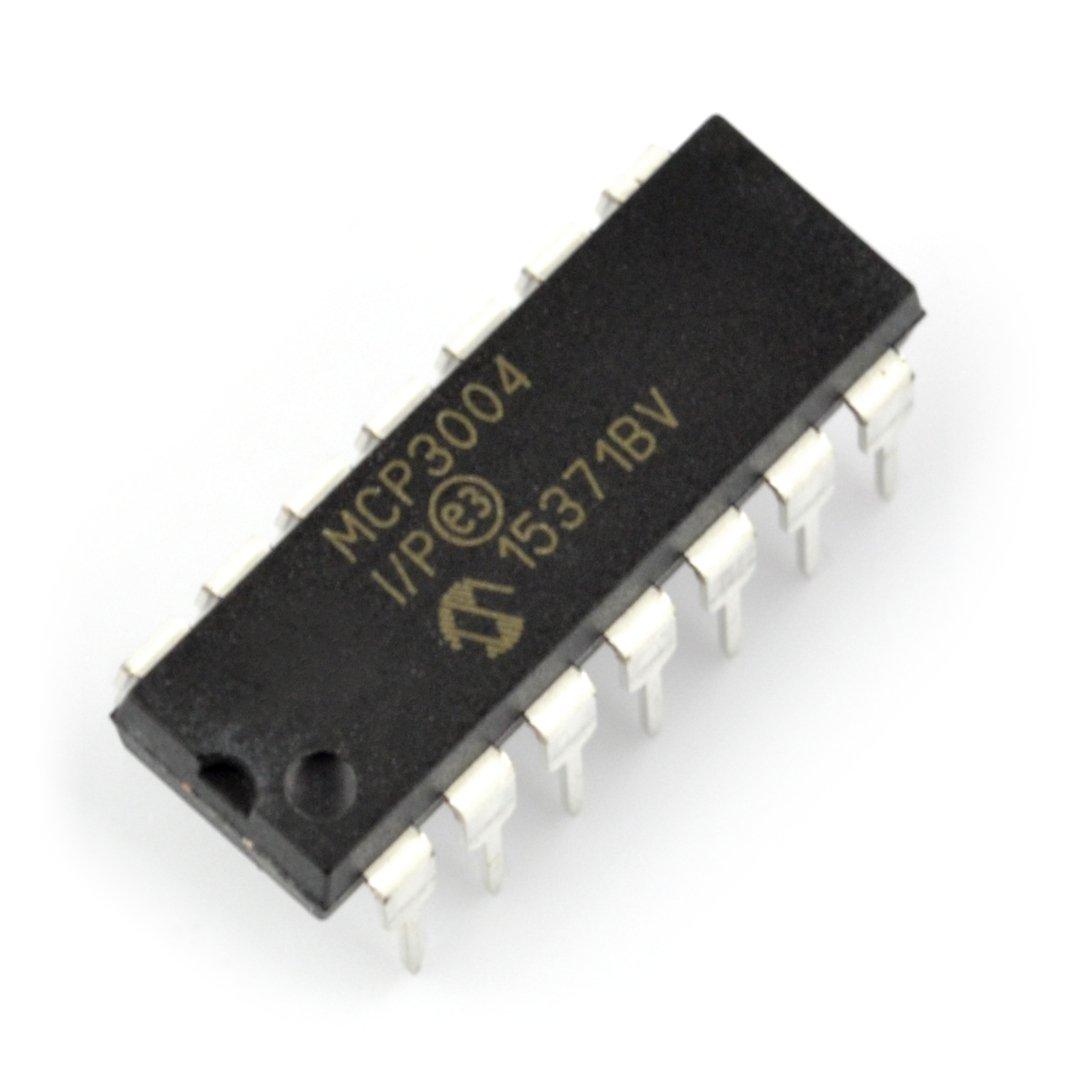 A / C převodník MCP3004-I / P 10bitový 4kanálový SPI - DIP