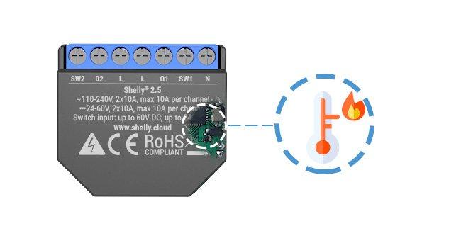 Teplotní senzor v Shelly 2.5